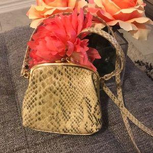 Vintage Liz Claiborne snakeskin bag